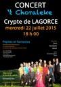 Affiche 't Choraleke - Lagorce 2015