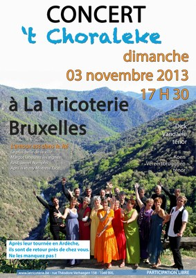 Affiche 't Choraleke - la Tricoterie BXL  - novembre 2013