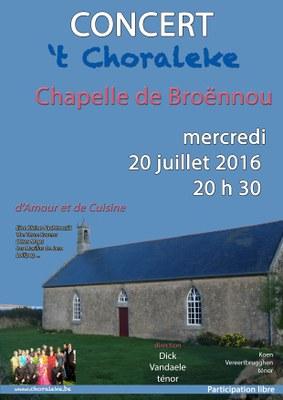 affiche 't Choraleke 2016 Broennou