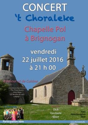 affiche 't Choraleke 2016 Brignogan