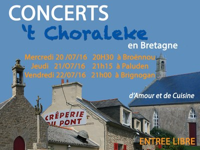 annonce 't Choraleke Bretagne 2016